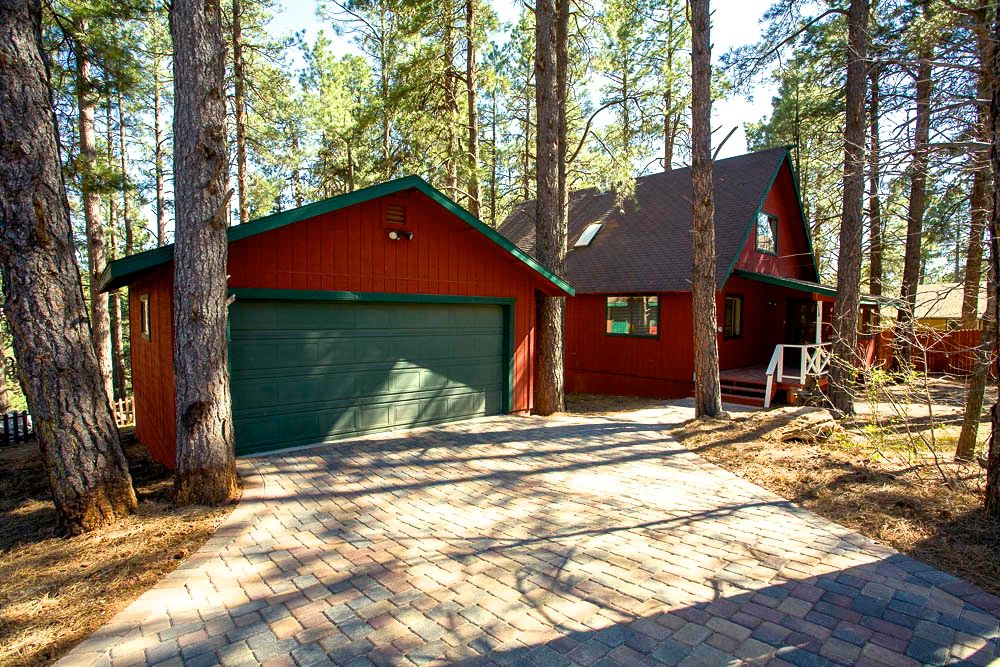 Heated driveway at Flagstaff Rental Cabin