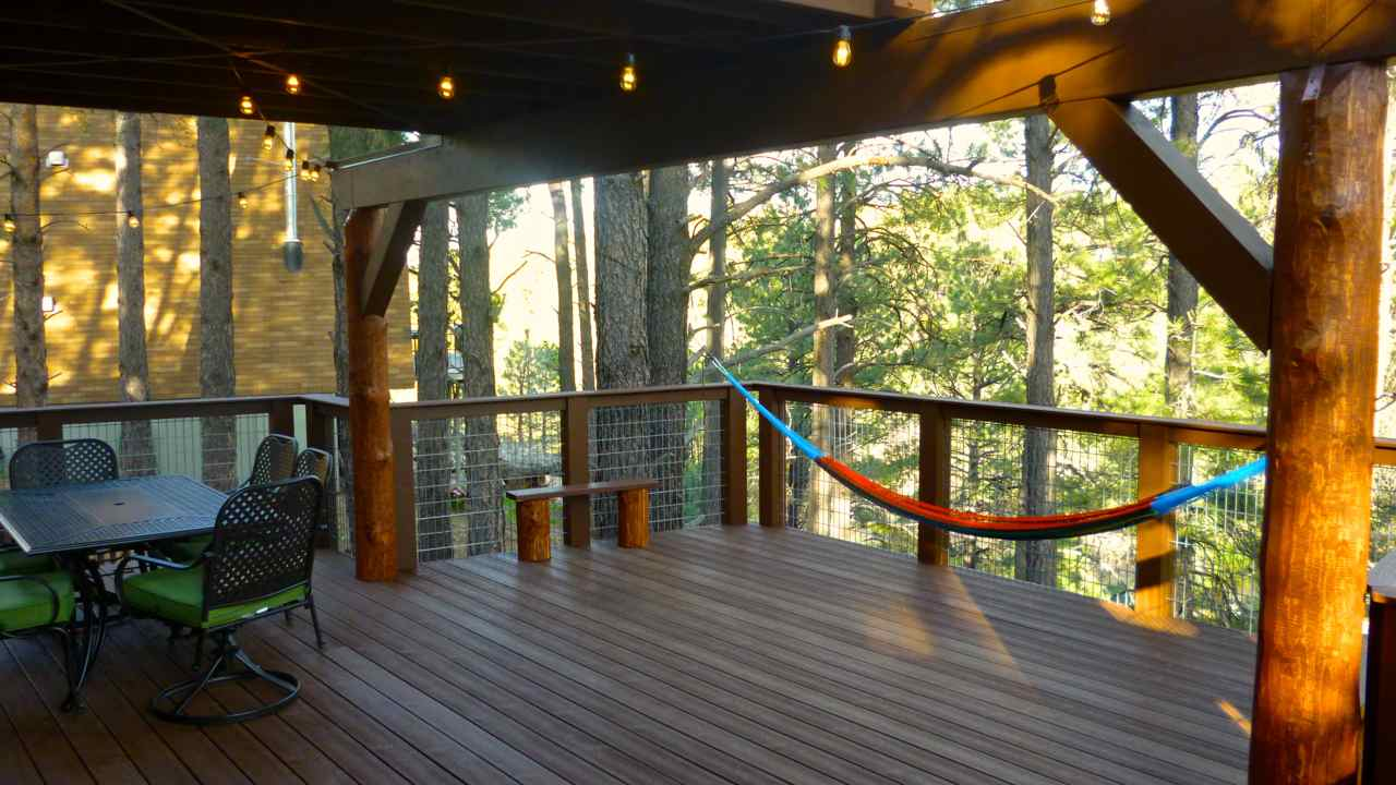 New Deck at Flagstaff Rental Cabin