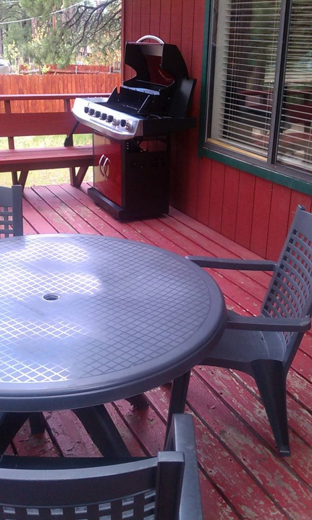 BBQ Grill and Table on the Deck