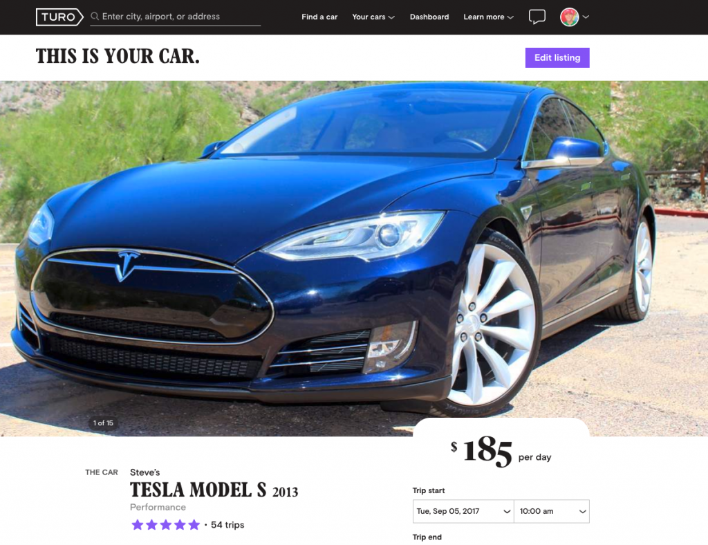 Rent a Tesla for your Flagstaff adventure